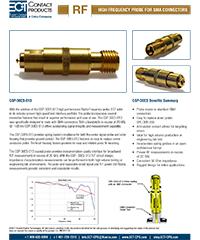 RF High Frequency Probe CSP-30ES-013 flyer